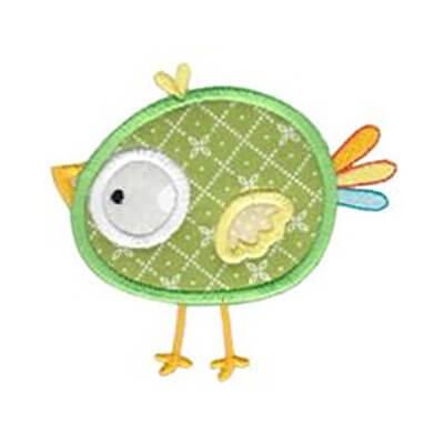 chick appliqué design
