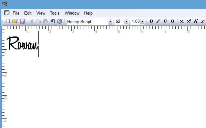 creating a name in SewWrite