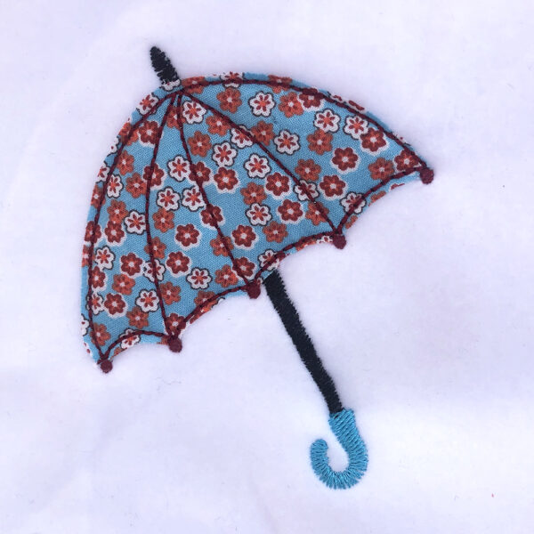 umbrella appliqué design