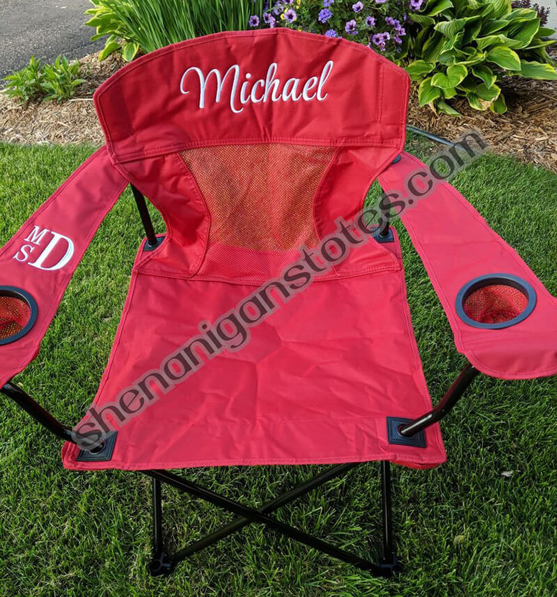 A great thing to embroidery for summer: a camping chair