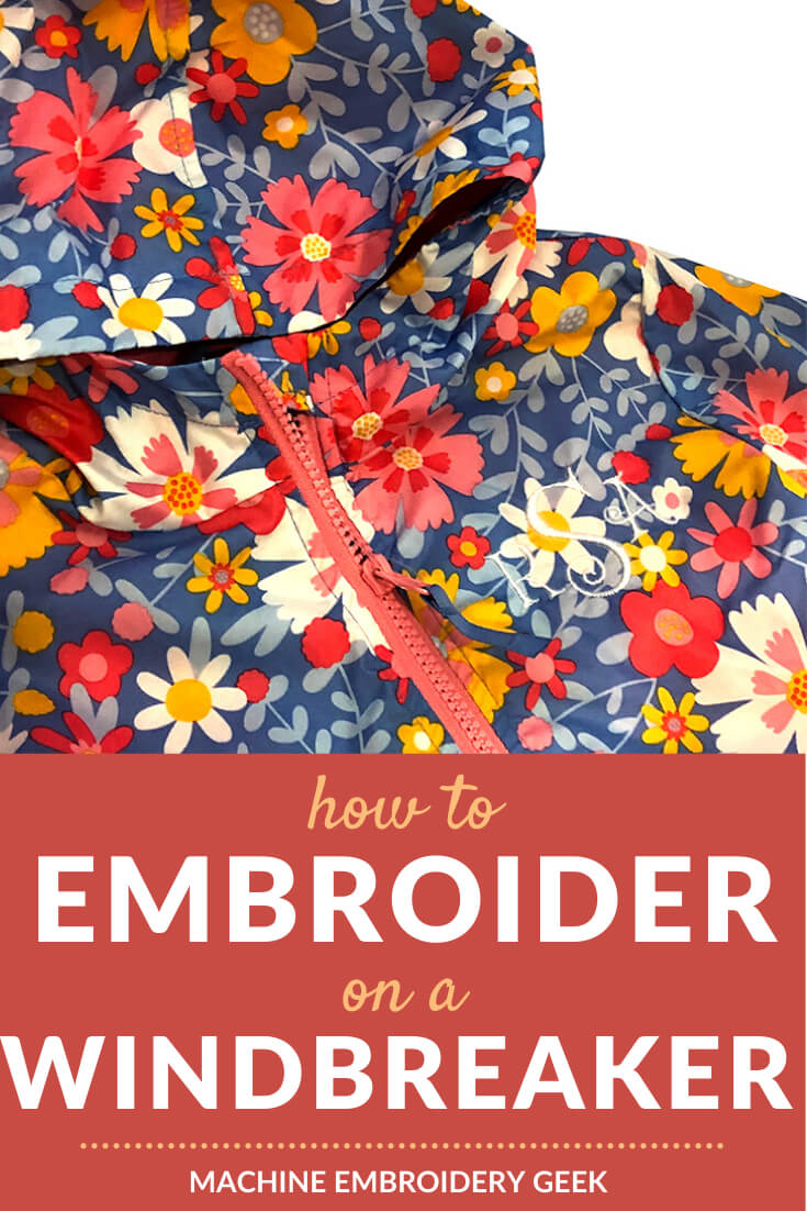 how to embroider on a windbreaker