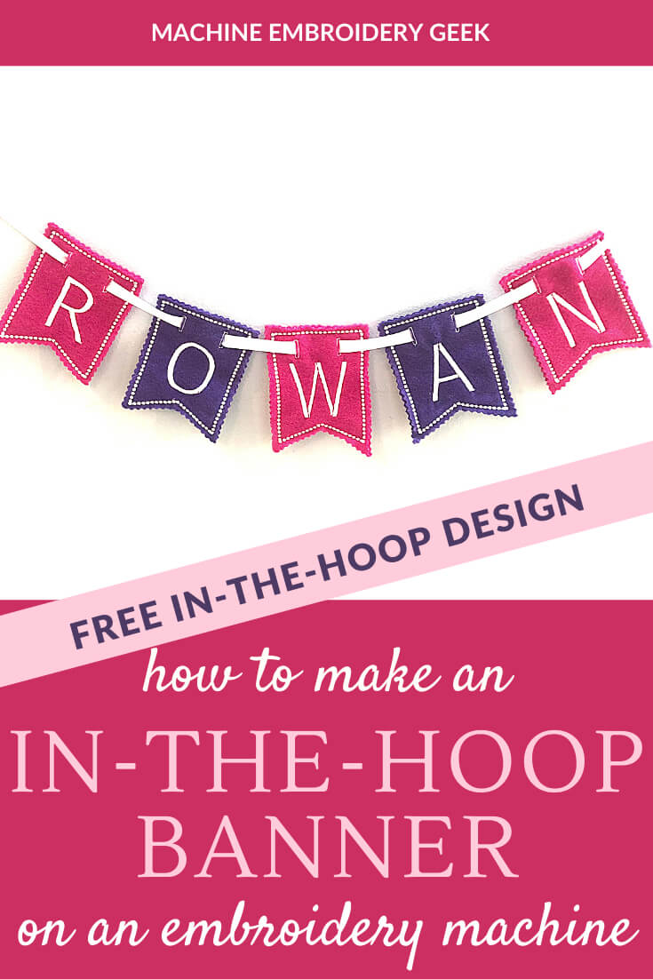 in the hoop banner on an embroidery machine