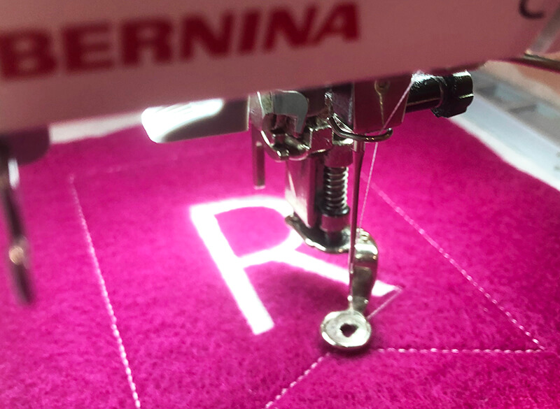 in the hoop banner: stitching out the letter