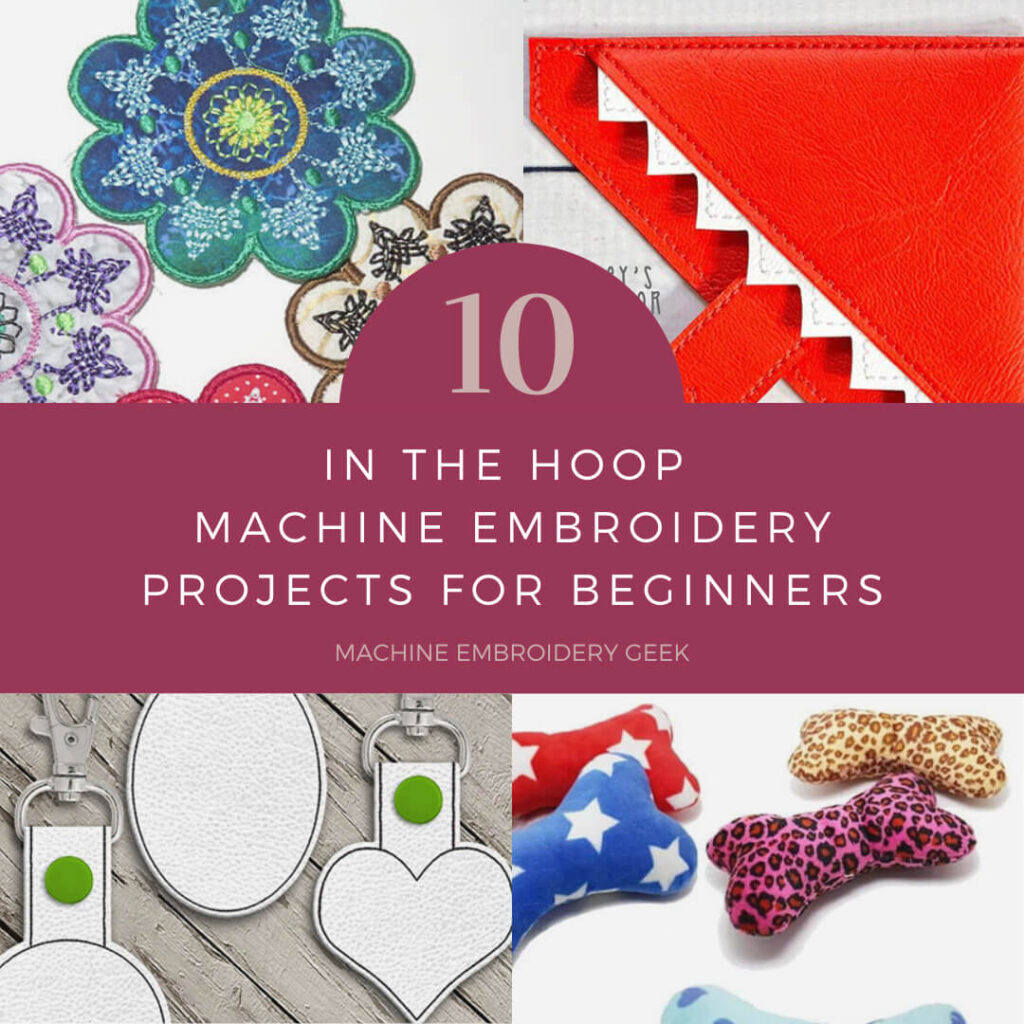 in the hoop embroidery projects for beginners