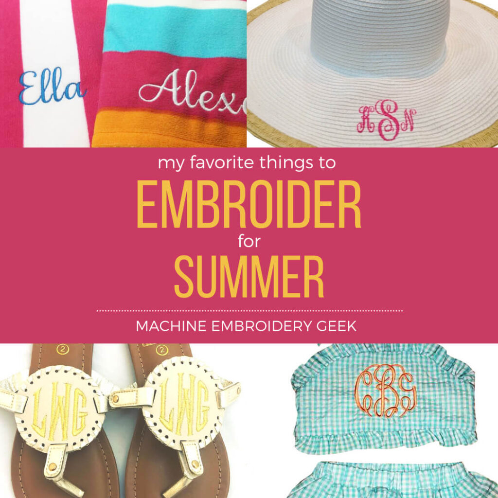 things to embroider for summer