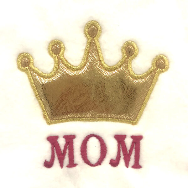 mom with crown machine appliqué design ein