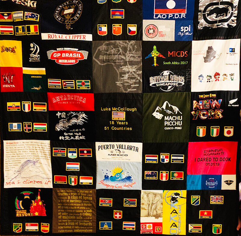 custom quilt from t-shirts