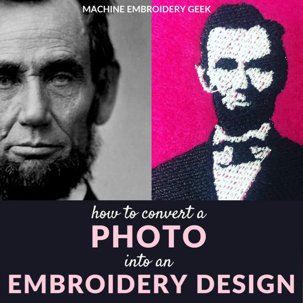 how to convert a photo to an embroidery design