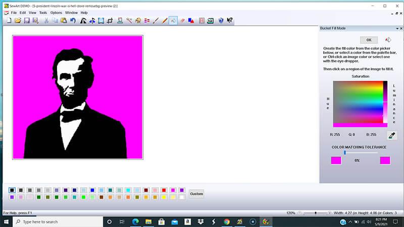 make background a crazy color in sewart