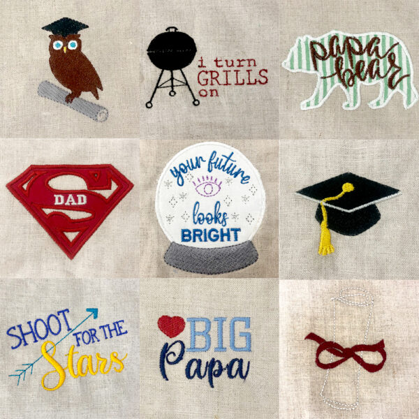 dads and grads machine embroidery designs