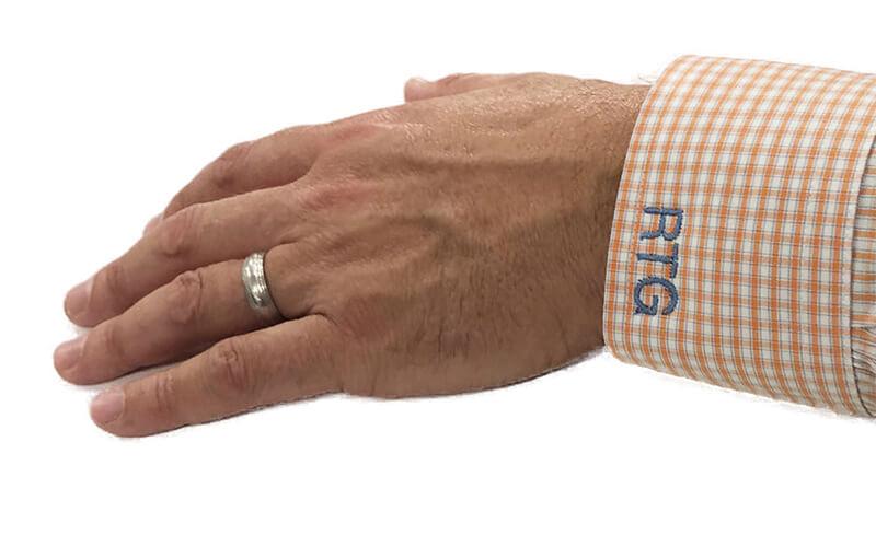 monogrammed mens shirt cuff