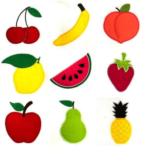 fun fruit appliqué design set