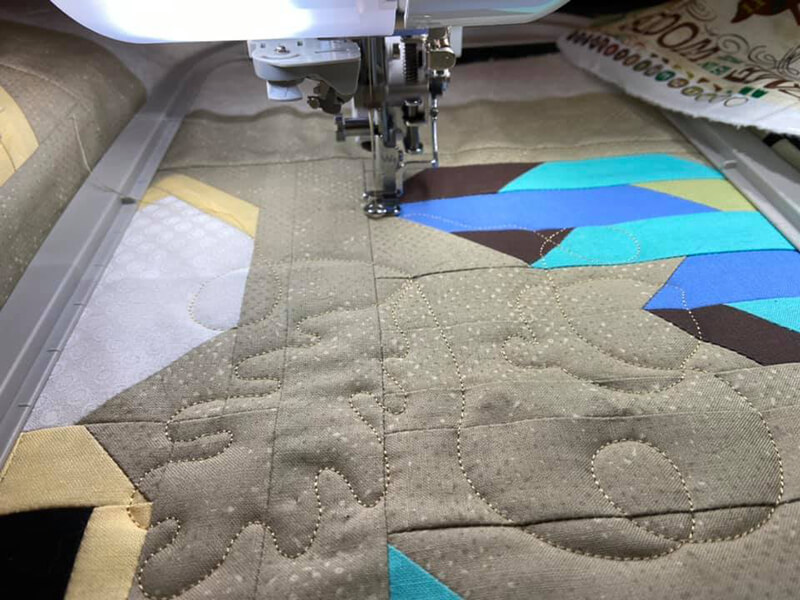 edge to edge quilting with an embroidery machine