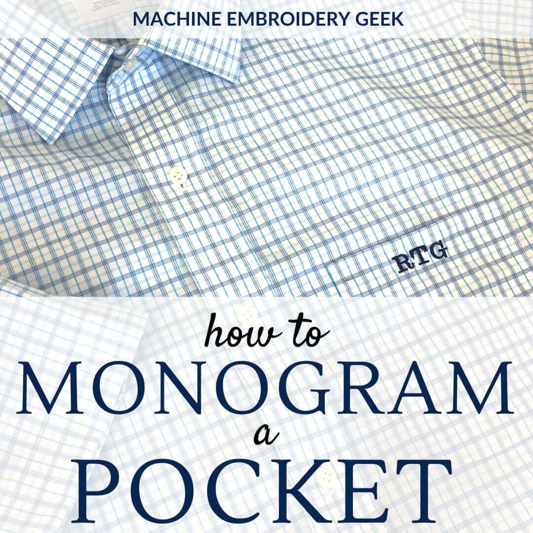 how to monogram a shirt pocket