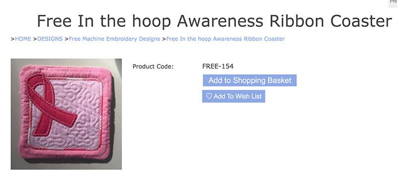 in-the-hoop coaster - free