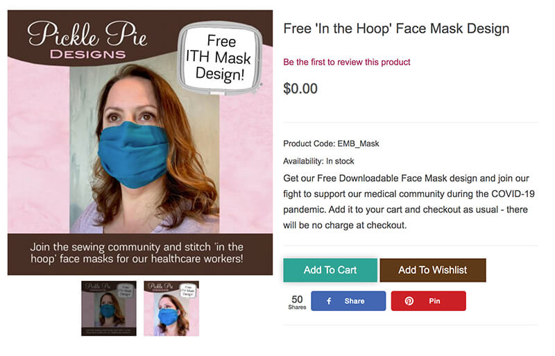 in the hoop face mask free