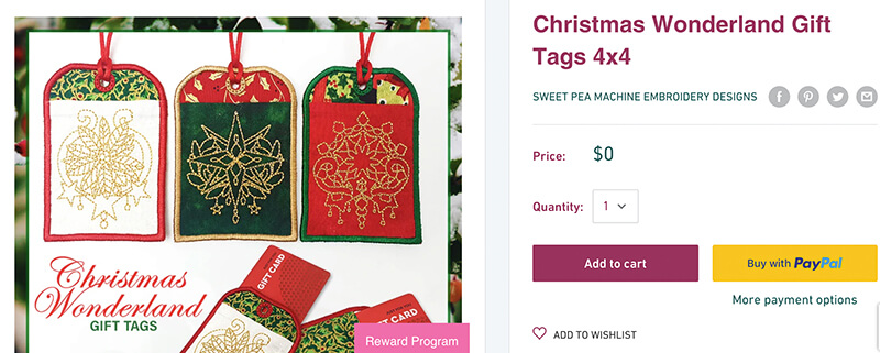 free in-the-hoop gift tag
