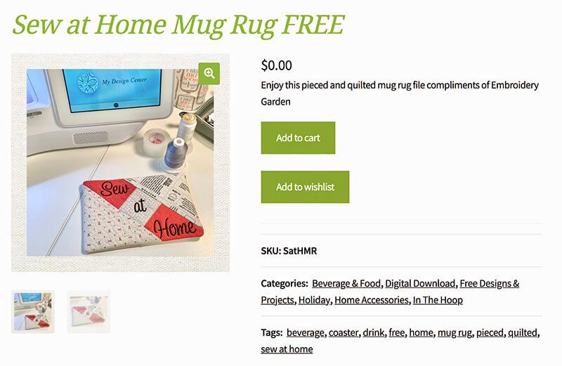 in the hoop mug rug
