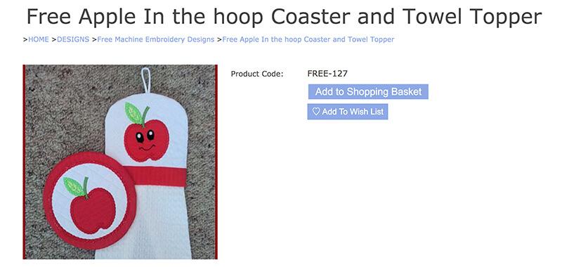 free in-the-hoop coaster