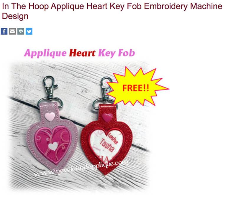 free in-the-hoop key fob