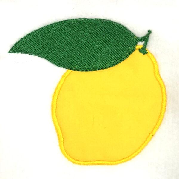 Lemon appliqué design