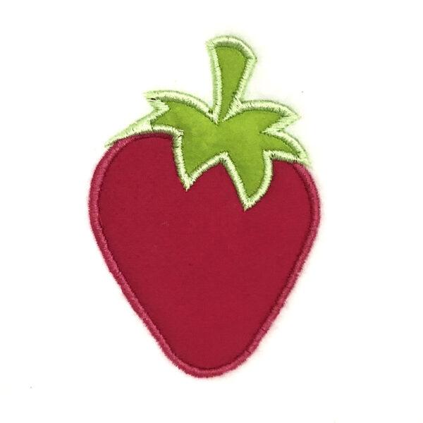 strawberry appliqué design