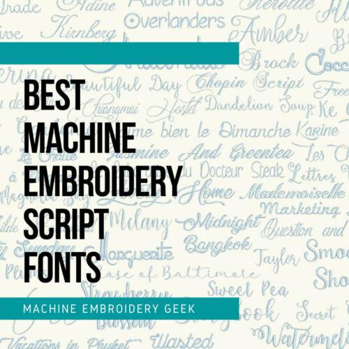 best machine embroidery script fonts