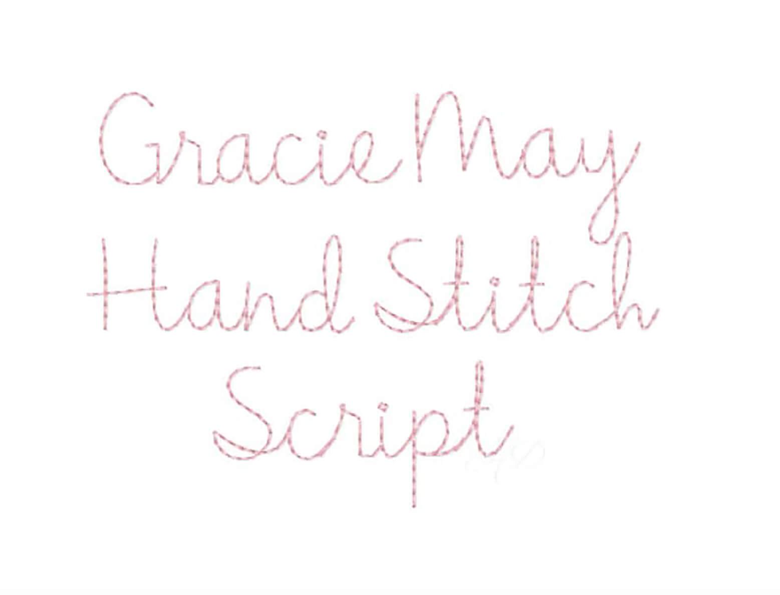 Gracie May Hand Stitch Script