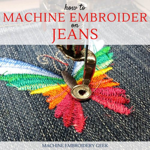how to machine embroider on jeans