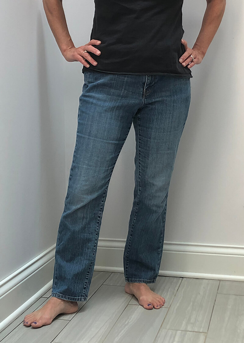 Goodwill jeans for machine embroidery