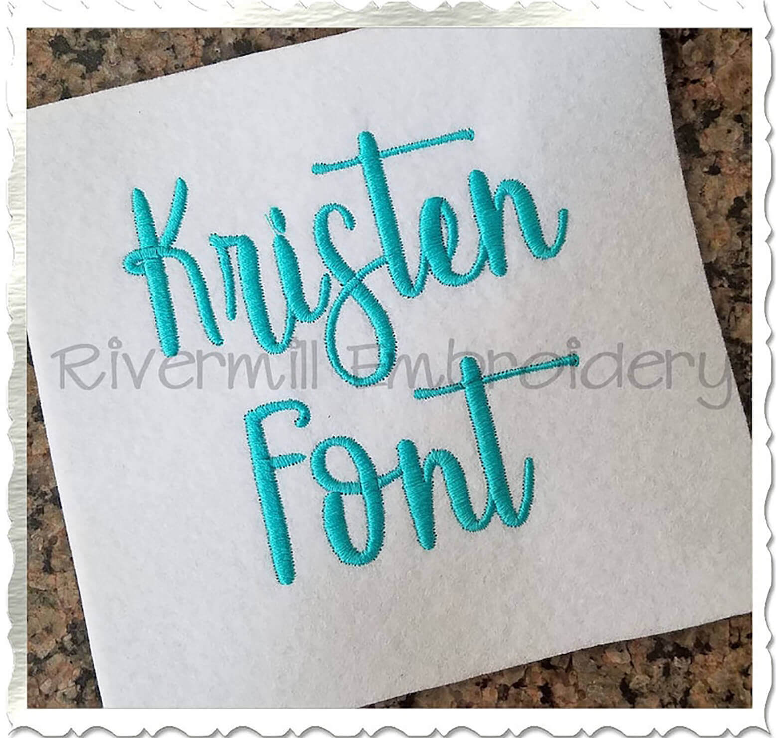Kristen Embroidery font