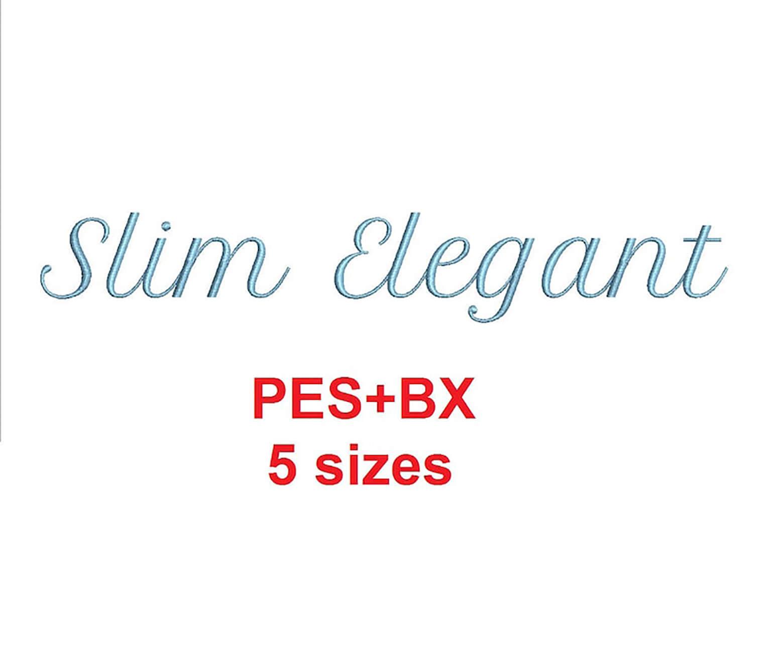 Slim Elegant Embroidery Font