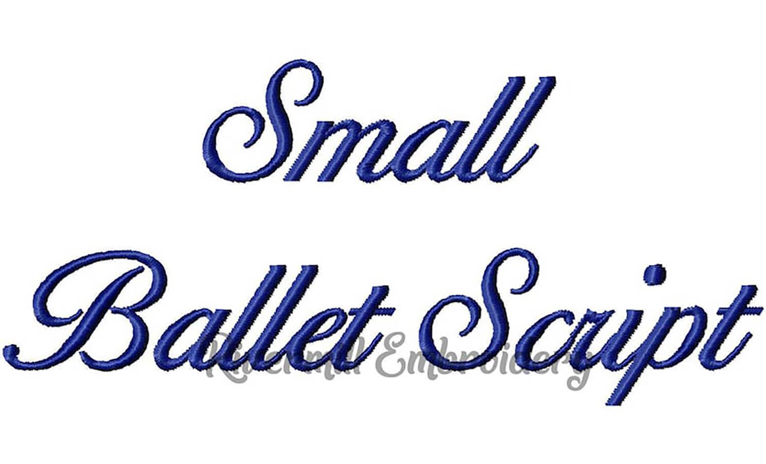 Small Ballet Script font