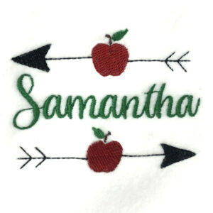 two arrows through apples perfect for personalizing