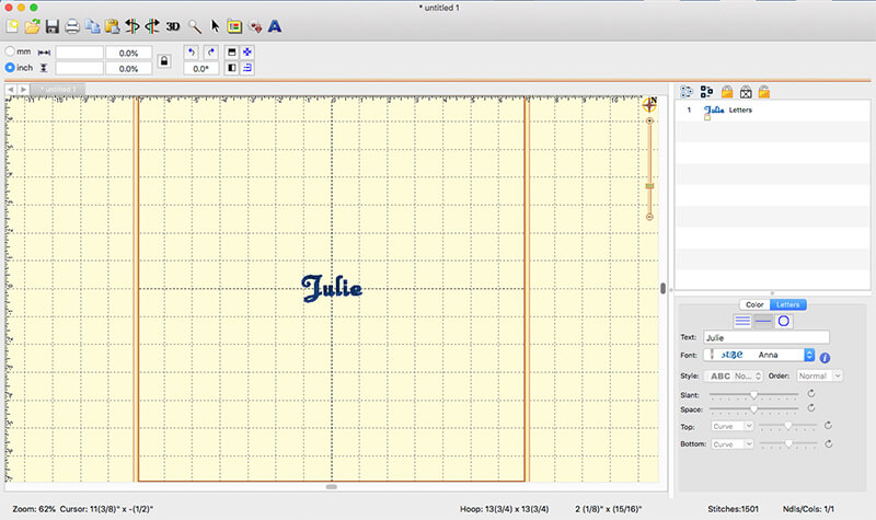 working with fonts in Embrilliance Express
